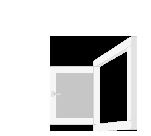 Kozijn met buitendraaiend raam