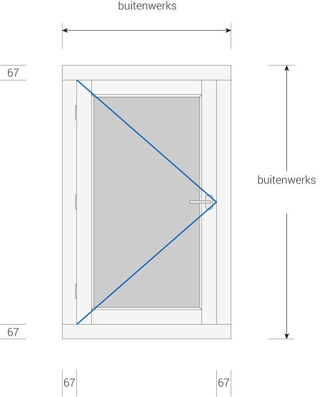 Kozijnenbesteller.nl - kozijn met buitendraaiend raam