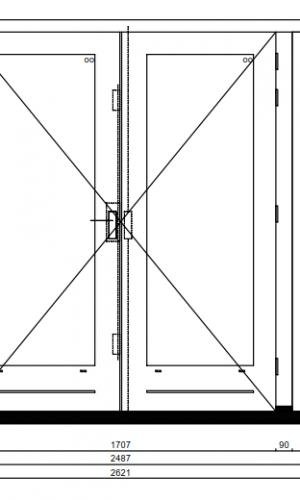Geliefde Kozijn met dubbele deur en 2 zijlichten - Kozijnenbesteller LO81
