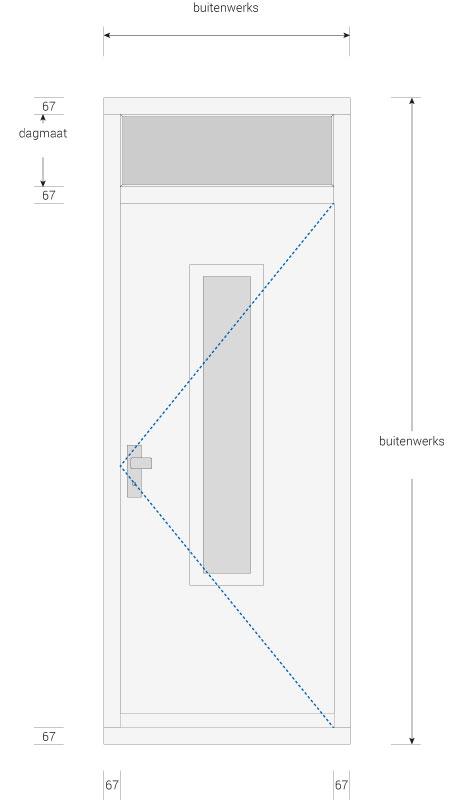 Kozijn met voordeur en bovenlicht