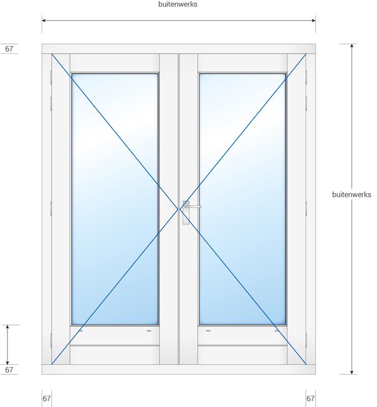 Kozijn met dubbele deur