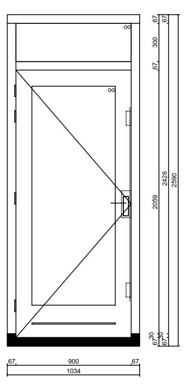 Super Kozijn met deur en bovenlicht - Kozijnenbesteller OI86
