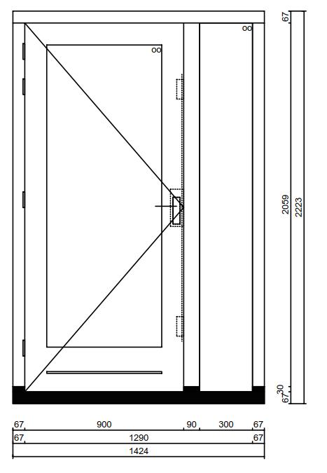 Favoriete Kozijn met deur en zijlicht - Kozijnenbesteller JW66