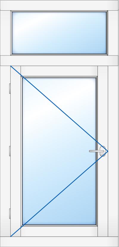 Kozijn met buitendraaiendr raam en bovenlicht