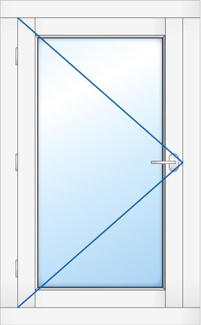 Kozijn met buitendraaaiend glas