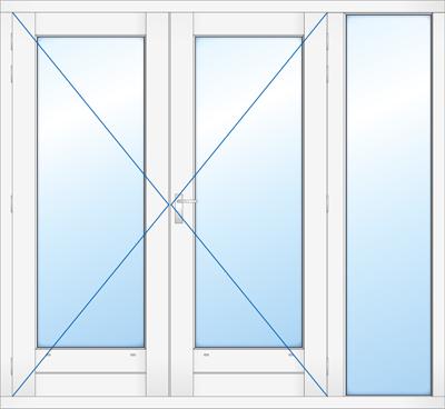 Kozjin met dubbel deur en zijlicht