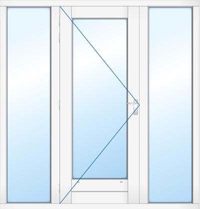 kozijn met deur 2 zijlichten