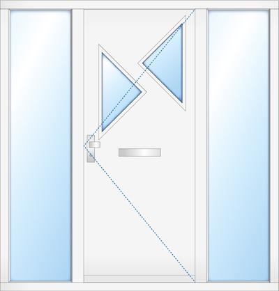 Kozjin met voordeur en 2 zijlichten
